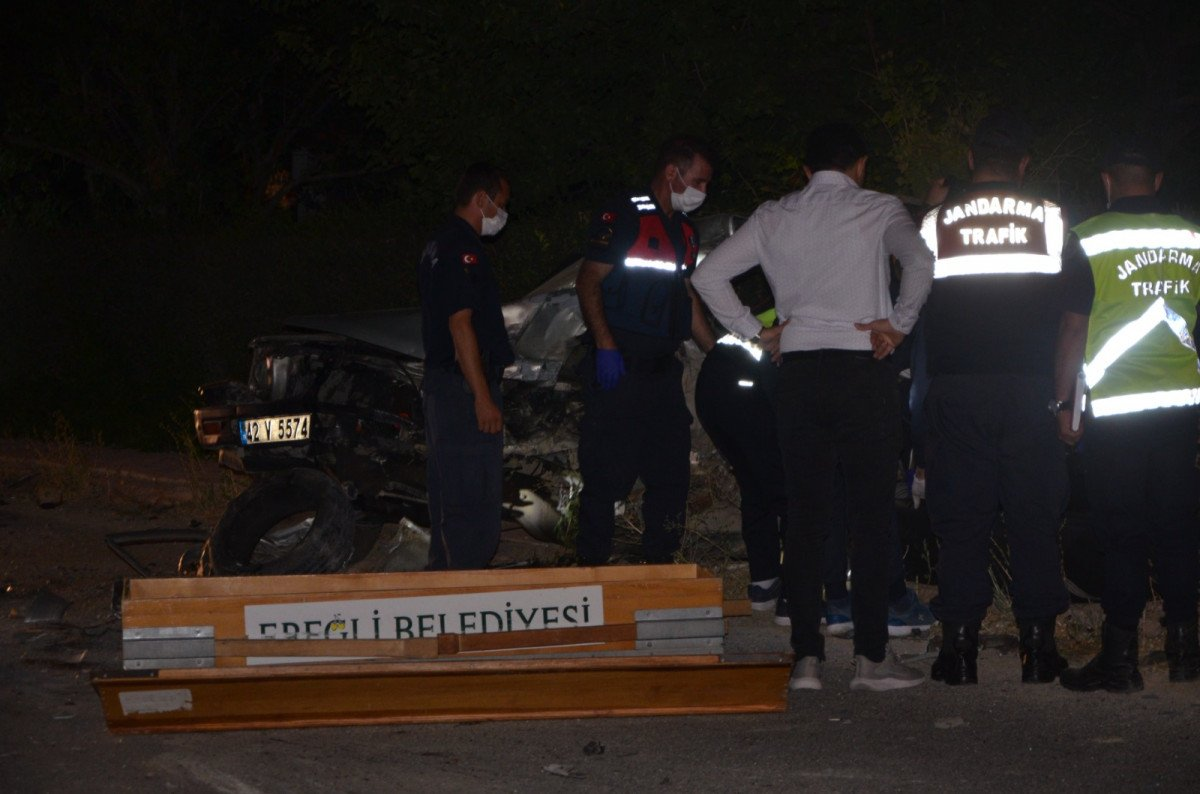 Konya da hafif ticari araçla kamyonet çarpıştı: 1 ölü #3