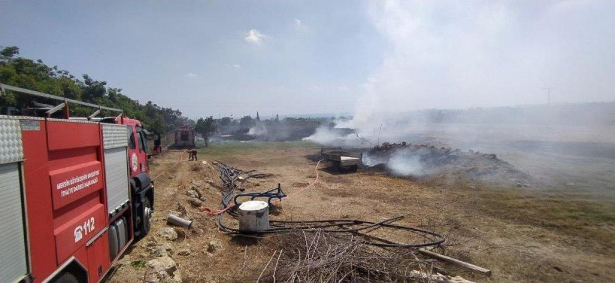 Mersin de çıkan yangın evlere ulaşmadan kontrol altına alındı #2