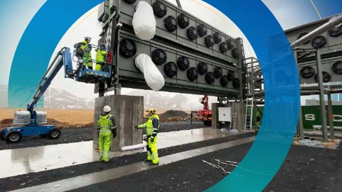Havadaki karbondioksiti temizleyen en büyük tesis açıldı