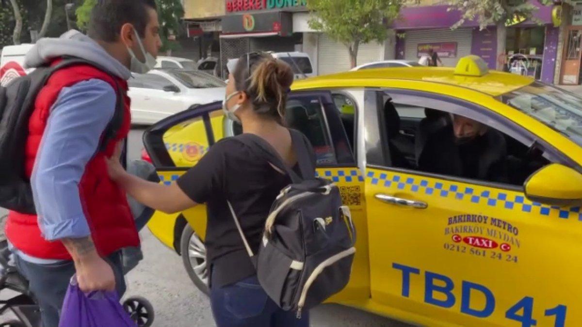 Bakırköy de kısa mesafe yolcu almayan taksiciye para cezası #1