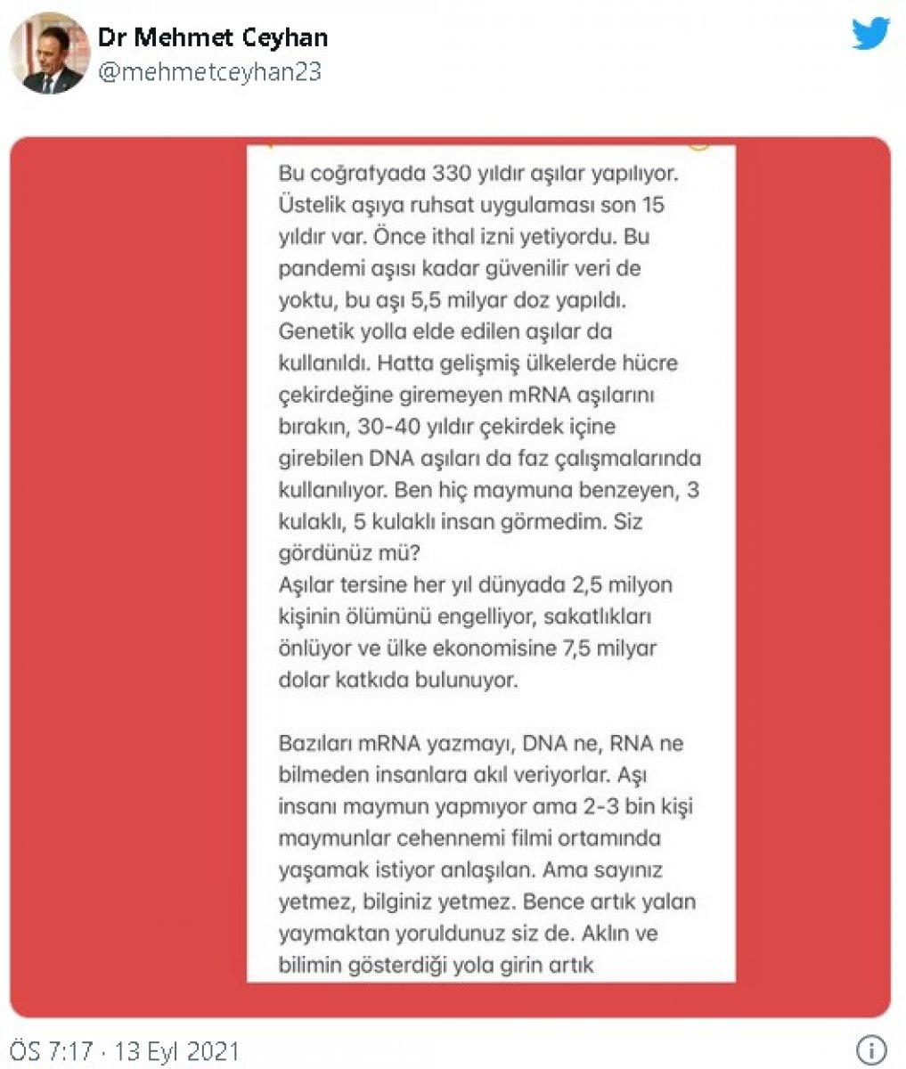 Mehmet Ceyhan: Ben hiç maymuna benzeyen insan görmedim #3
