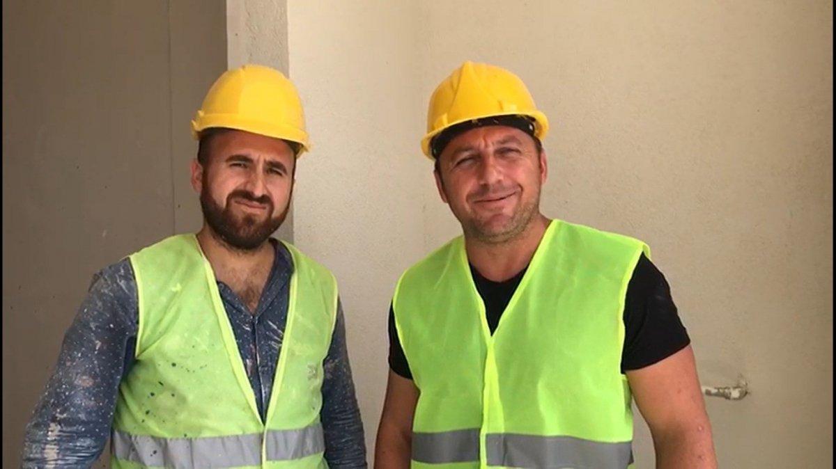 Edirne de okul müdürü, öğrencilerine ayakkabı almak için inşaatta çalışıyor #6