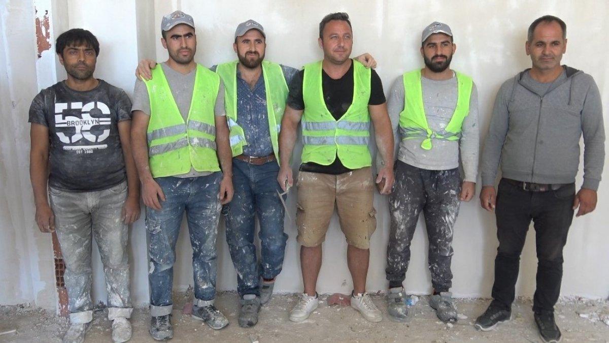 Edirne de okul müdürü, öğrencilerine ayakkabı almak için inşaatta çalışıyor #8