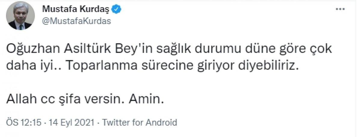 Oğuzhan Asiltürk ün sağlık durumu iyiye gidiyor #1