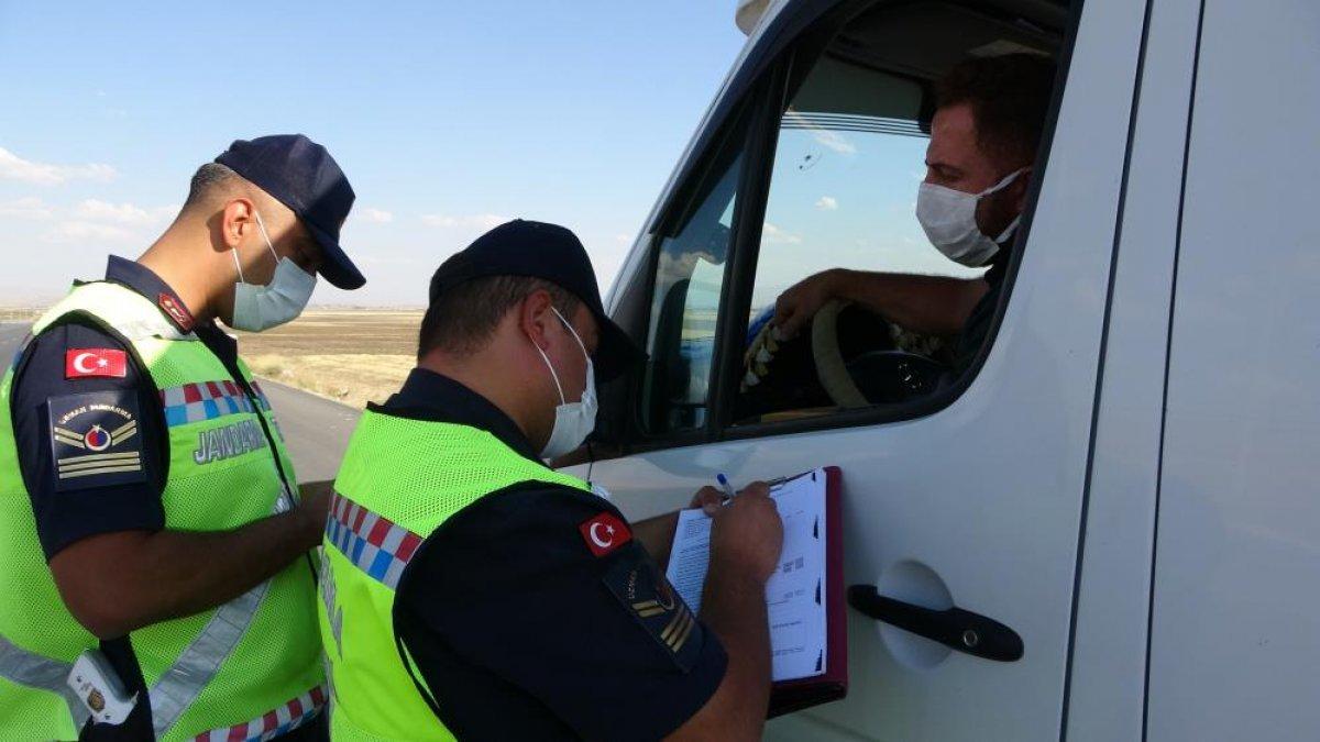 Muş ta görevli timler servis araçlarını drone ile denetledi #4
