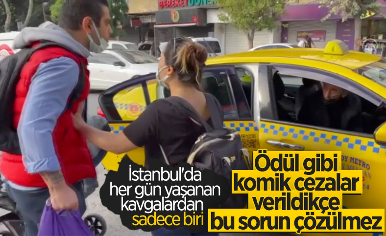 Bakırköy'de kısa mesafe yolcu almayan taksiciye para cezası