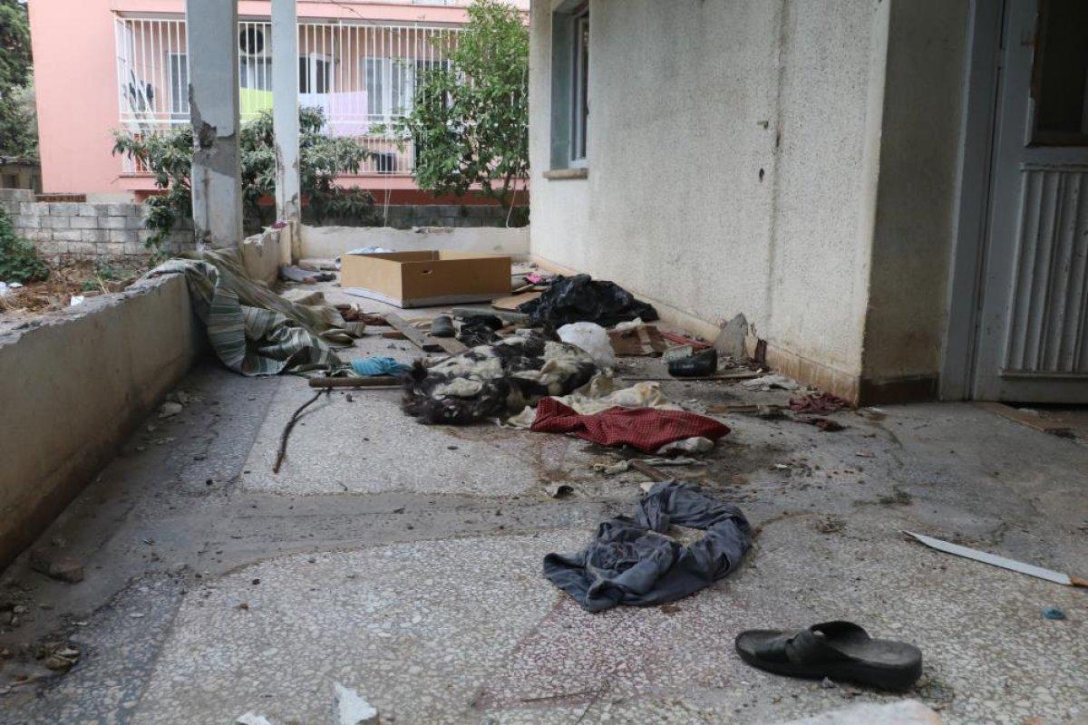 Antalya da bimekan şahısların sebep olduğu düşünülen bina alev alev yandı #4
