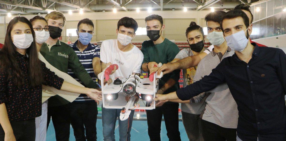 Erzurum da lise öğrencileri insansız su altı aracı tasarladı #3