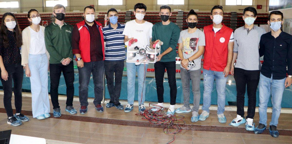 Erzurum da lise öğrencileri insansız su altı aracı tasarladı #6