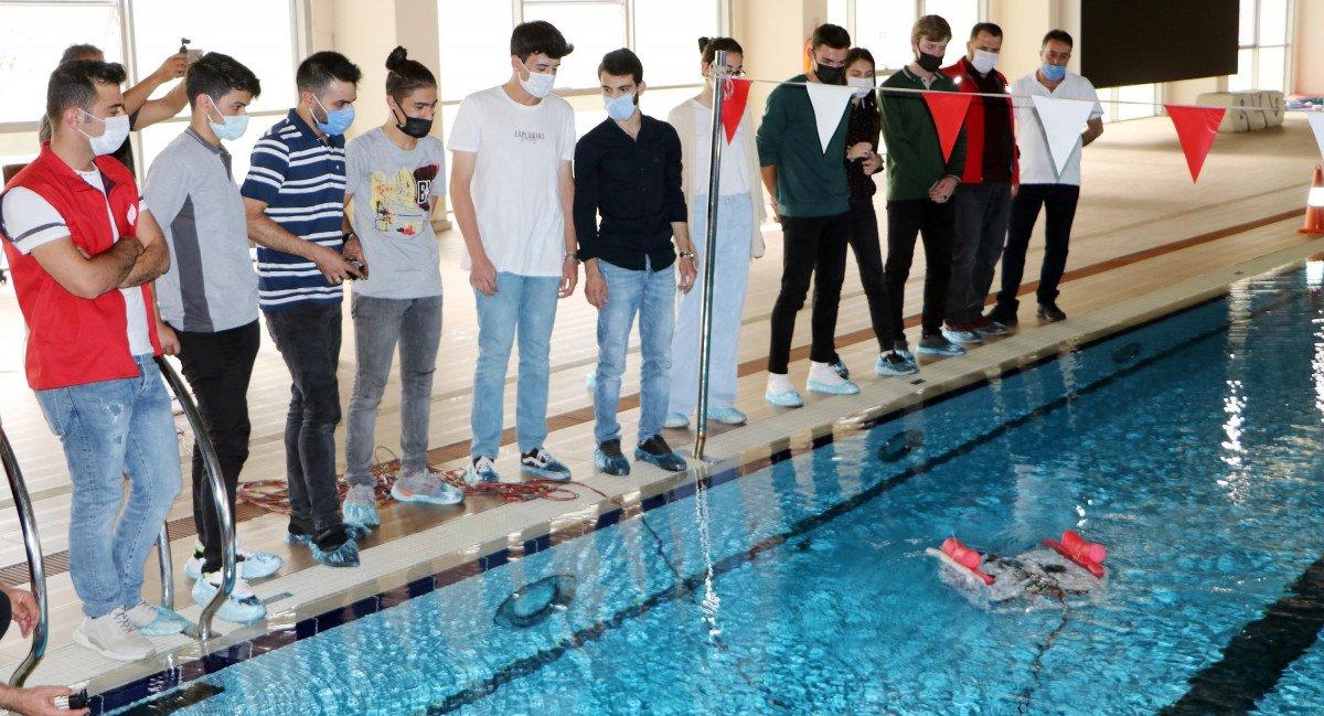 Erzurum da lise öğrencileri insansız su altı aracı tasarladı #5