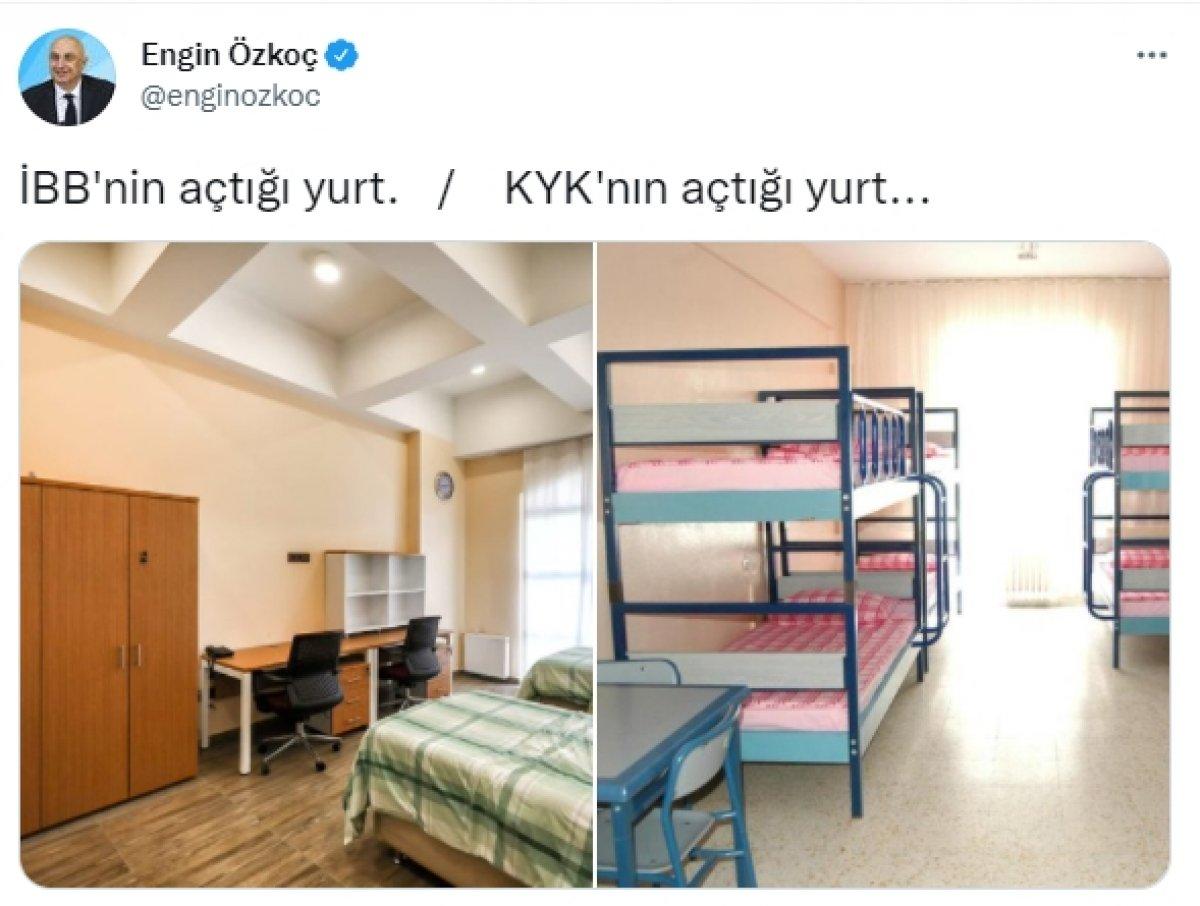 Mehmet Kasapoğlu'ndan Engin Özkoç'a KYK yurdu yanıtı