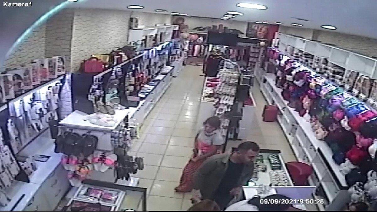Esenler de kadın hırsız çaldığı ürünü eteğinin içine attı #2