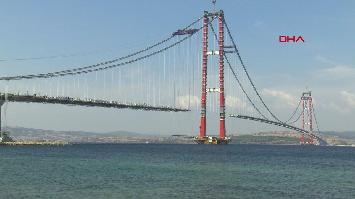 1915 Çanakkale Köprüsü nün tamamlanan Lapseki yakasından geçiş yapıldı #5