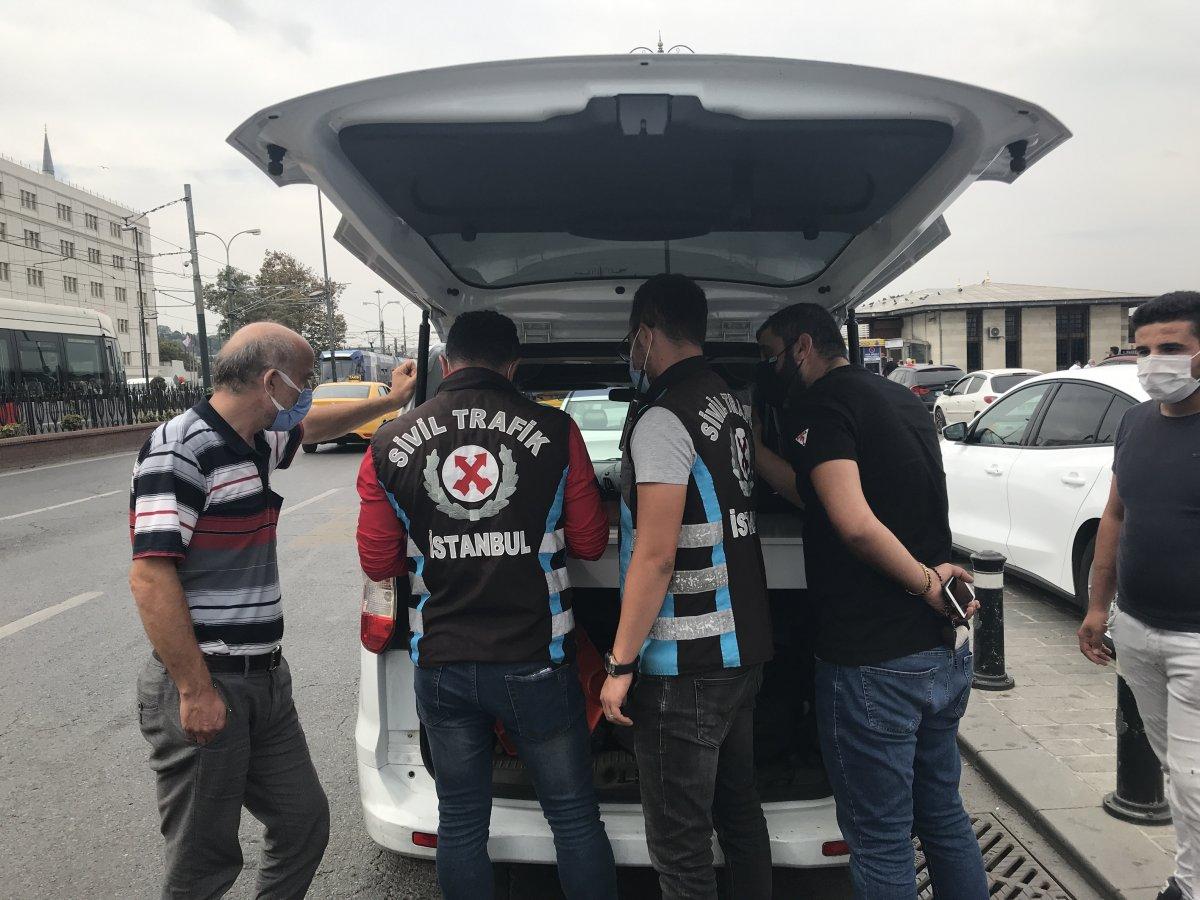 Eminönü'nde taksicilere ceza yağdı #5