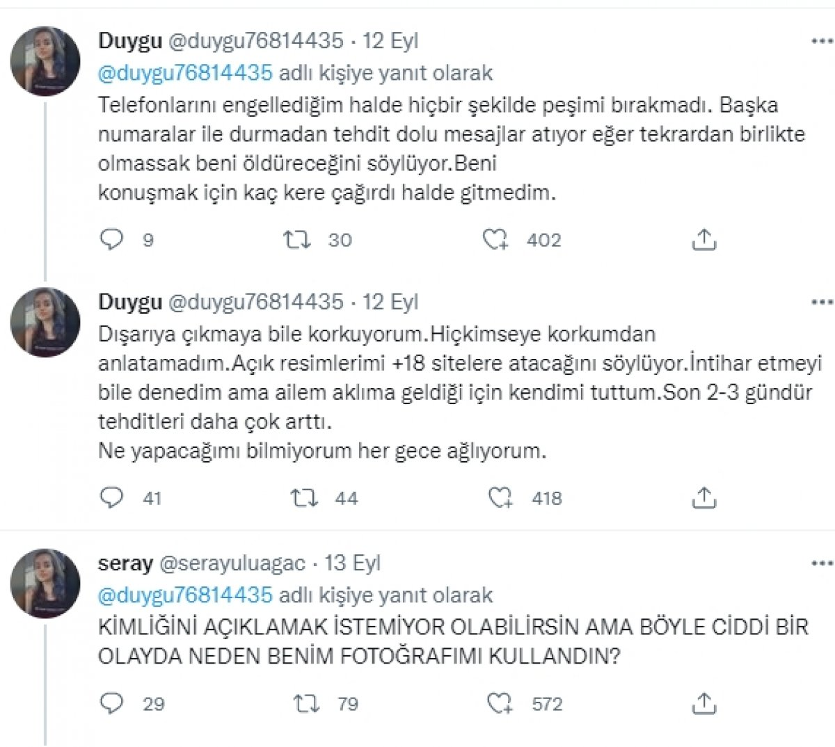 Tecavüze uğradığını söyleyen Duygu isimli hesabın sahibi erkek çıktı #2