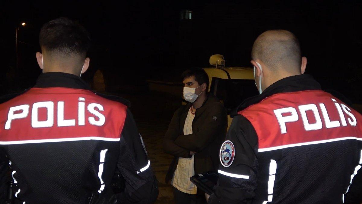 Kırıkkale de koronalı halde sokağa çıkan bir kişi yakalanınca tepki gösterdi #2