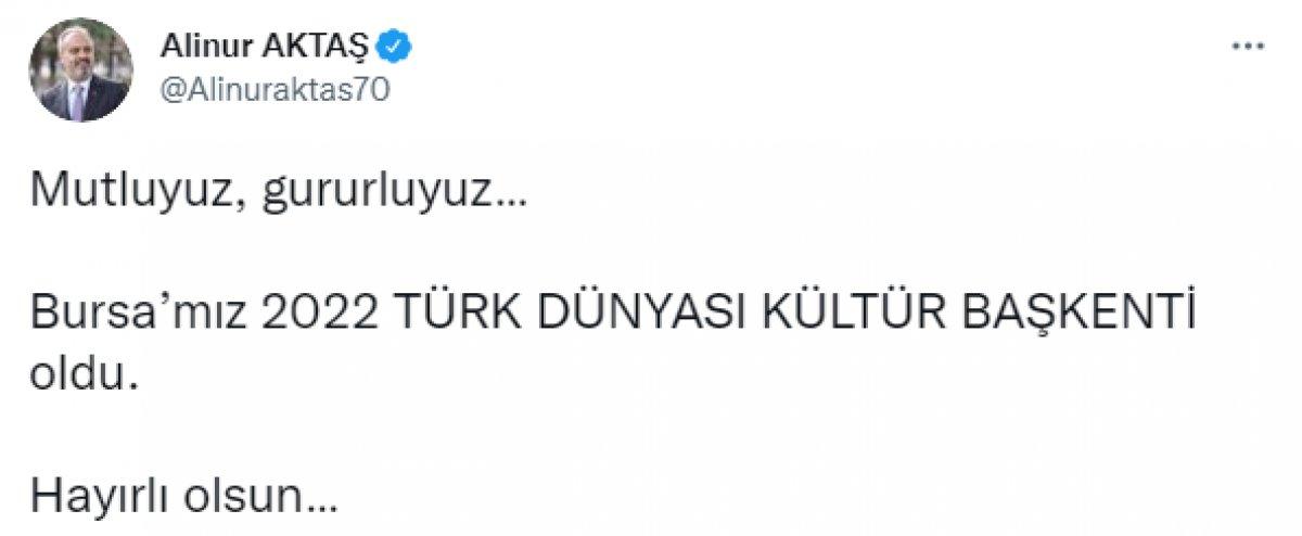 Türk Dünyası Kültür Başkenti unvanı Bursa ya verildi #1