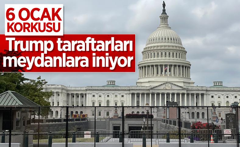 ABD Kongresi, aşırı sağcı grupların gösterisi nedeniyle yeniden çitlerle çevrildi