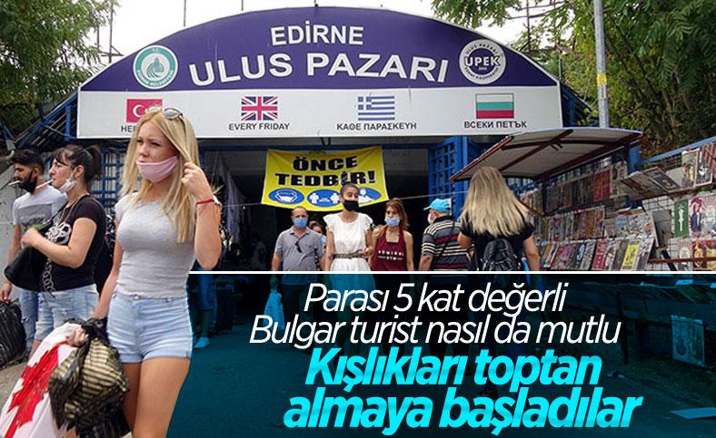 Edirne Ulus Pazarı, turistler tarafından yoğun ilgi görüyor