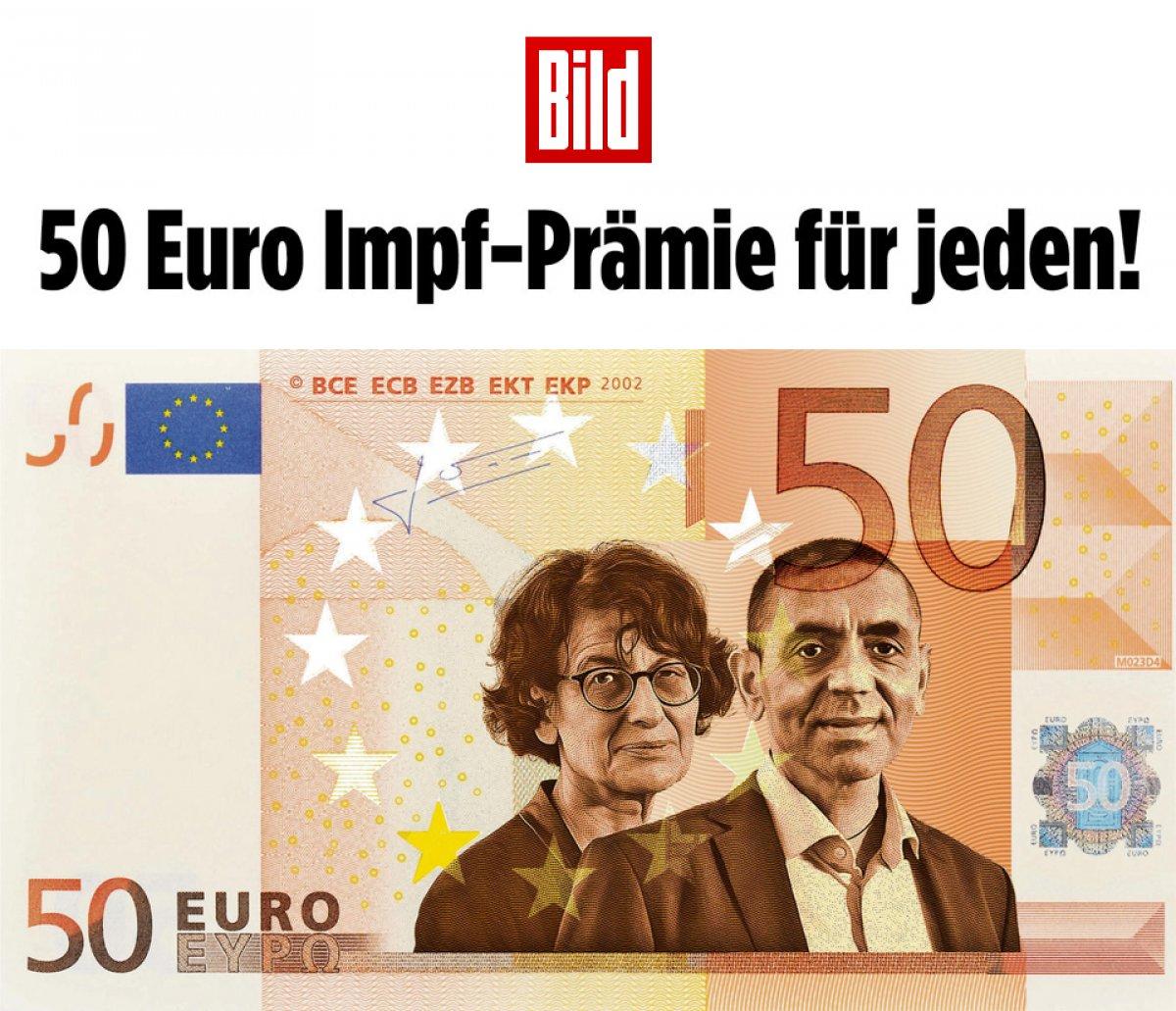 Alman basınından, tam aşılı olanlara 50 euro verilsin çağrısı #1