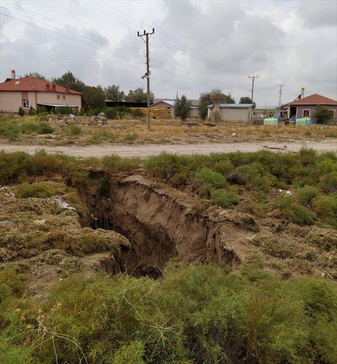 Konya da toprak yüzeyde oluşan yarıkların AFAD raporu yayınlandı #3