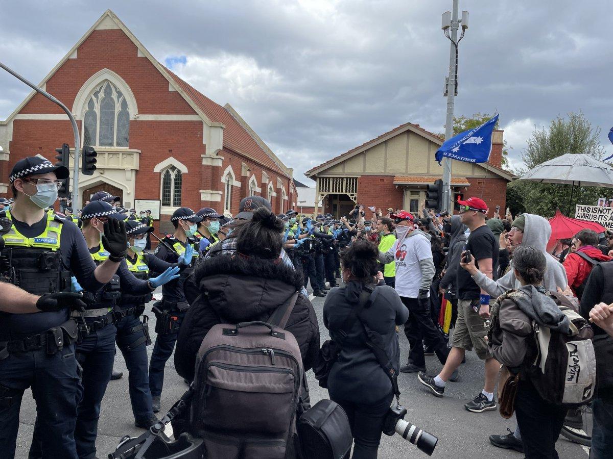 Avustralya'da karantina karşıtları sokağa döküldü  #4