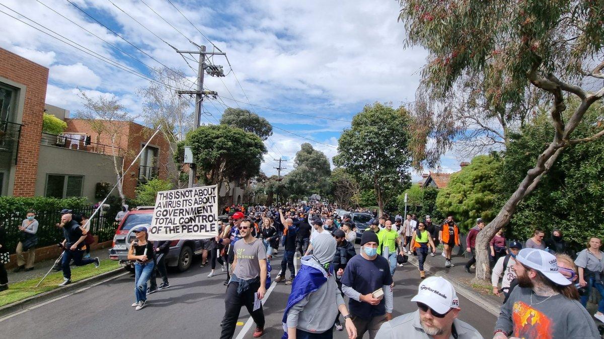 Avustralya'da karantina karşıtları sokağa döküldü  #2