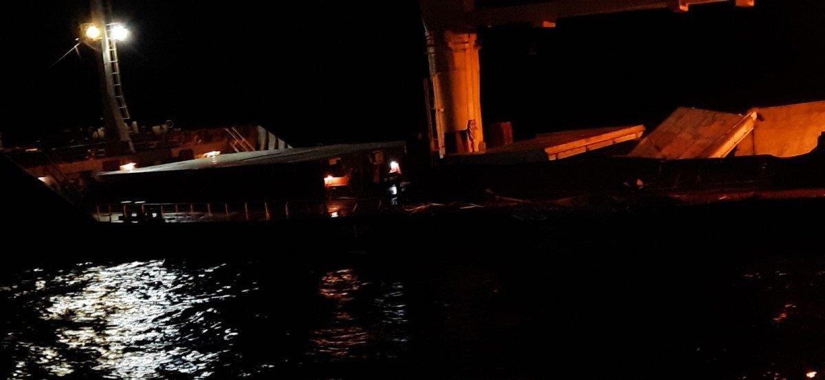 Bozcaada açıklarında 2 gemi çarpıştı #1
