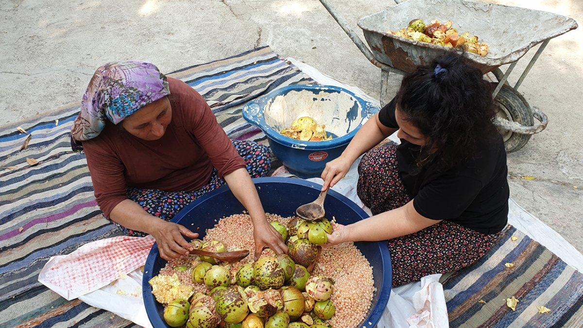 Çukurovalı kadınların geleneksel nar ekşisi mesaisi başladı #1