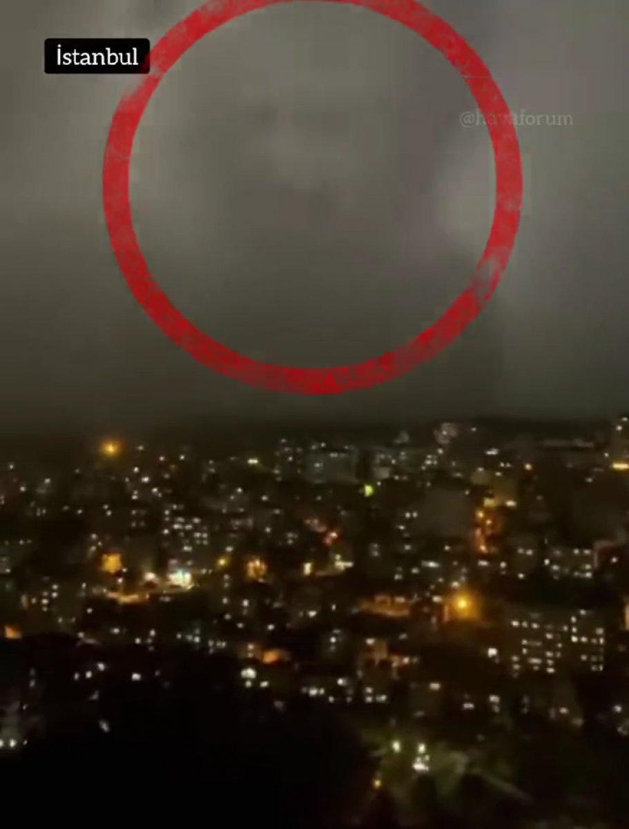 İstanbul da insan silüetinde bulut meydana geldi  #1