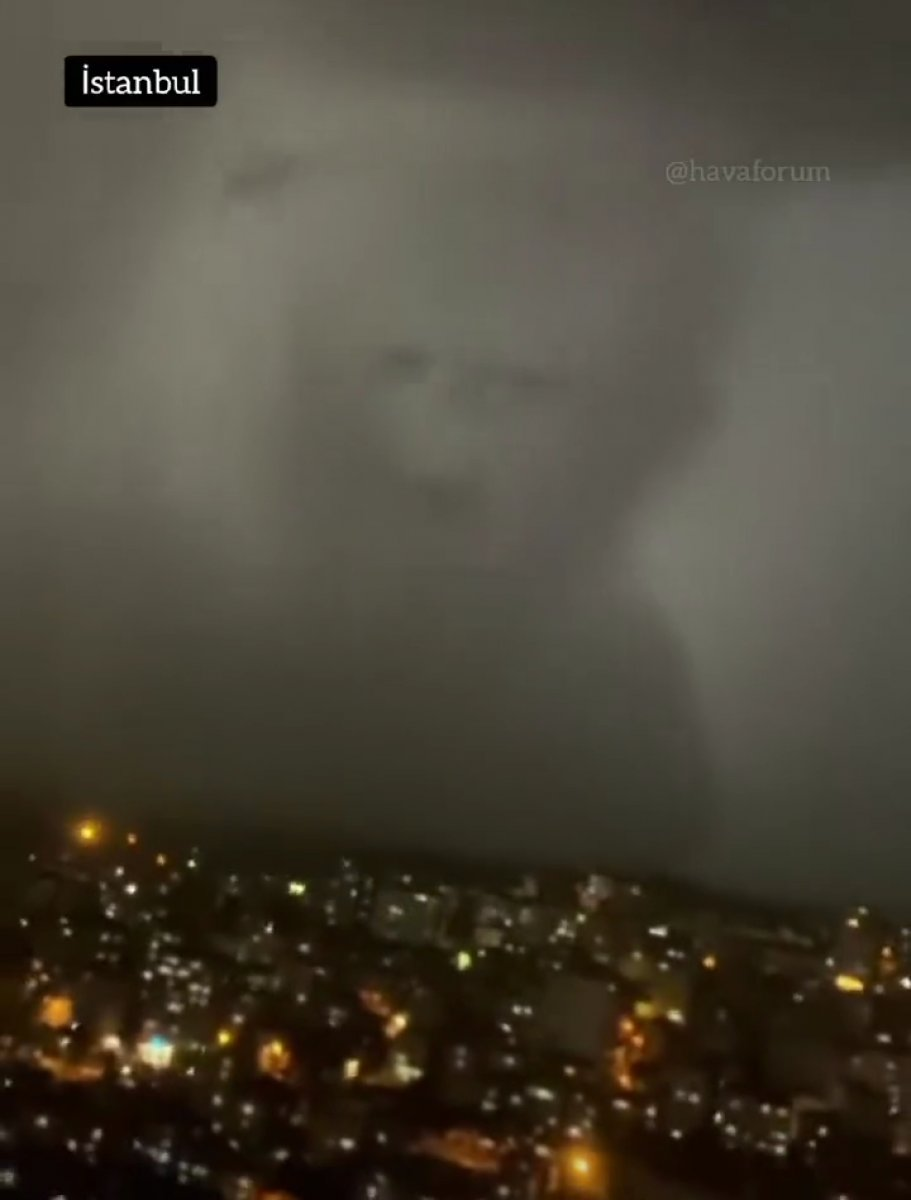 İstanbul da insan silüetinde bulut meydana geldi  #3