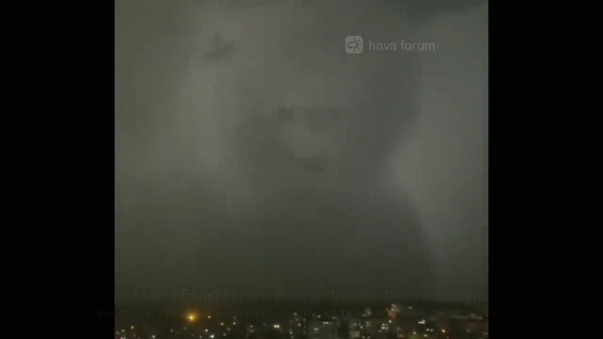 İstanbul da insan silüetinde bulut meydana geldi  #4