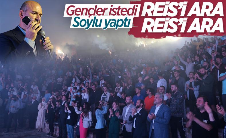 Edirne'de gençler 'Reis'i ara' sloganı atınca, Süleyman Soylu telefon açtı