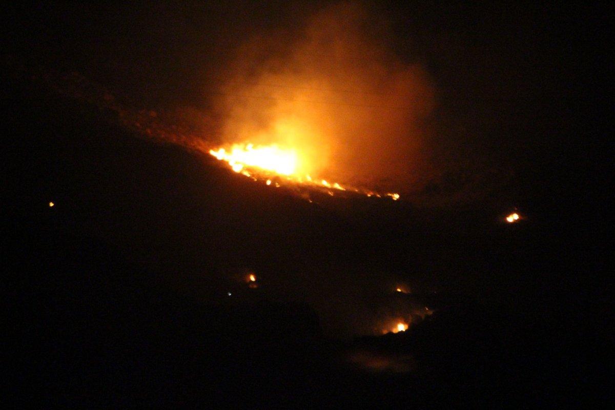 Muğla da çıkan yangının söndürüldüğü bildirildi #1