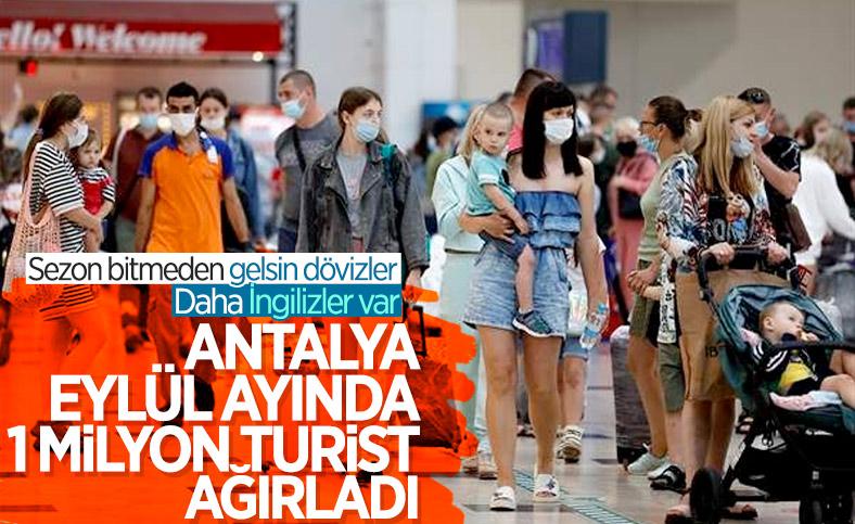 Antalya'ya eylülde 1 milyon turist geldi
