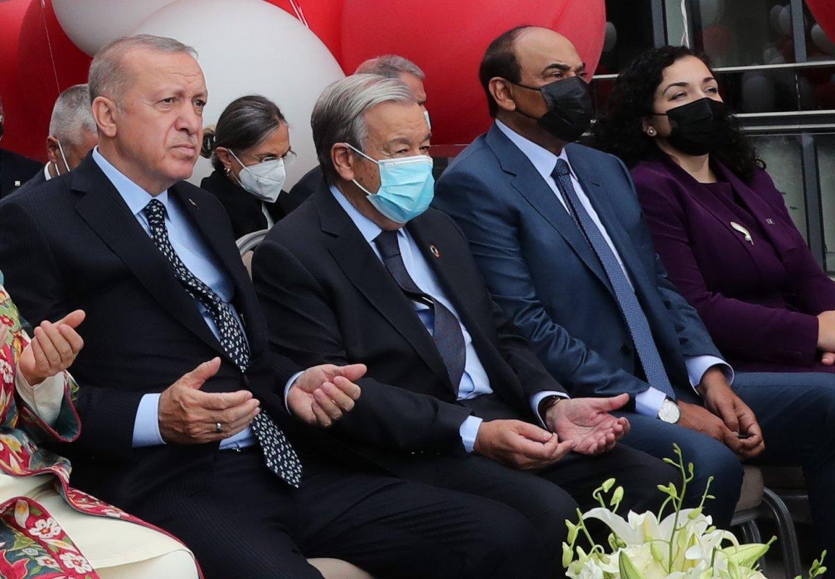 Antonio Guterres, Türkevi açılışında yapılan duaye el açtı #2