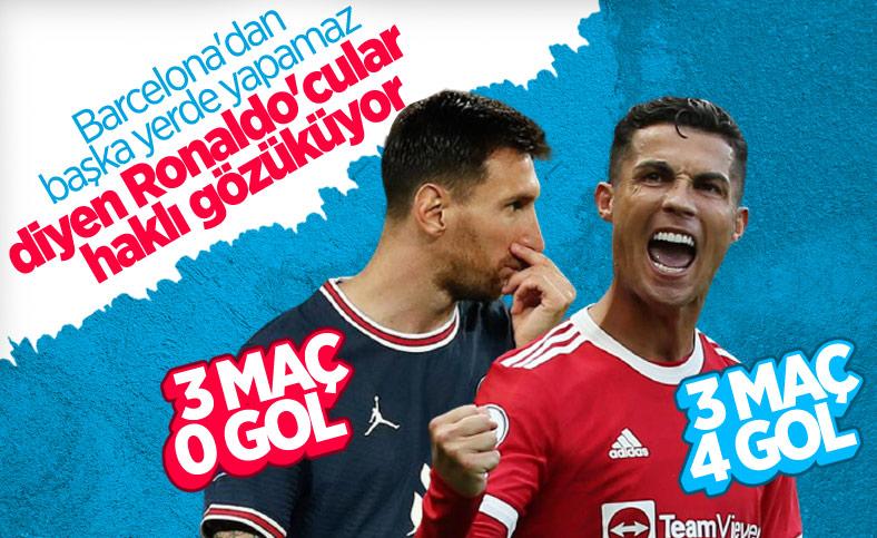 Ronaldo ve Messi'nin 3 maçlık performansı