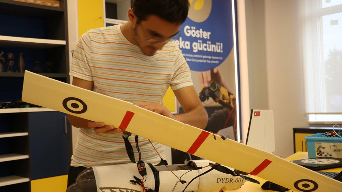 Yalova da öğrenciler, afetlere karşı yapay zekalı model uçak geliştirdi #1
