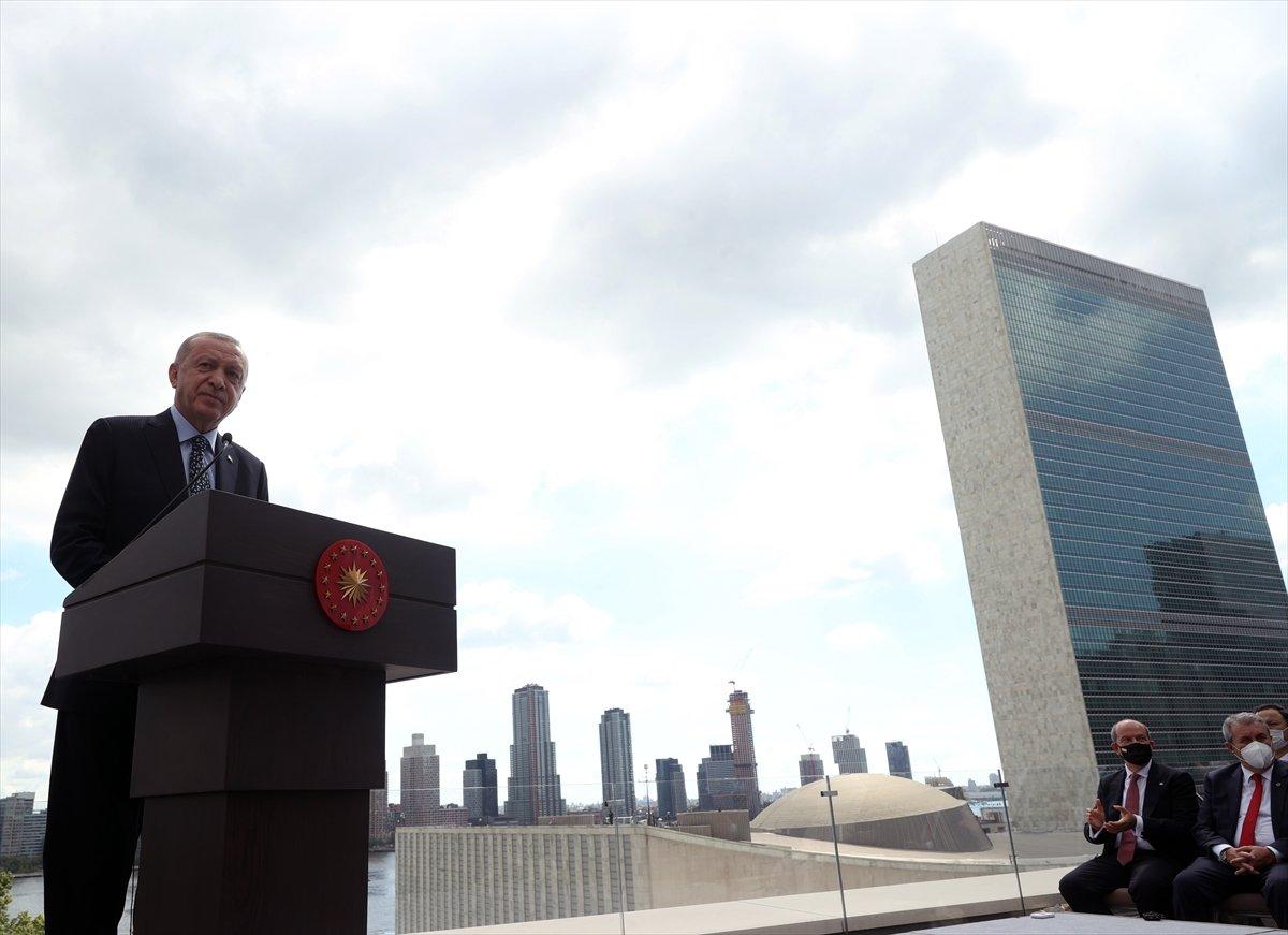 Cumhurbaşkanı Erdoğan, New York ta Türkevi Binası nın açılışı töreninde  #1