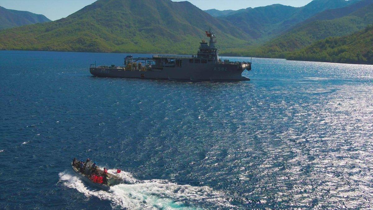 Ege de nefes kesen Kurtaran 2021 Denizaltı Arama Kurtarma Tatbikatı #1