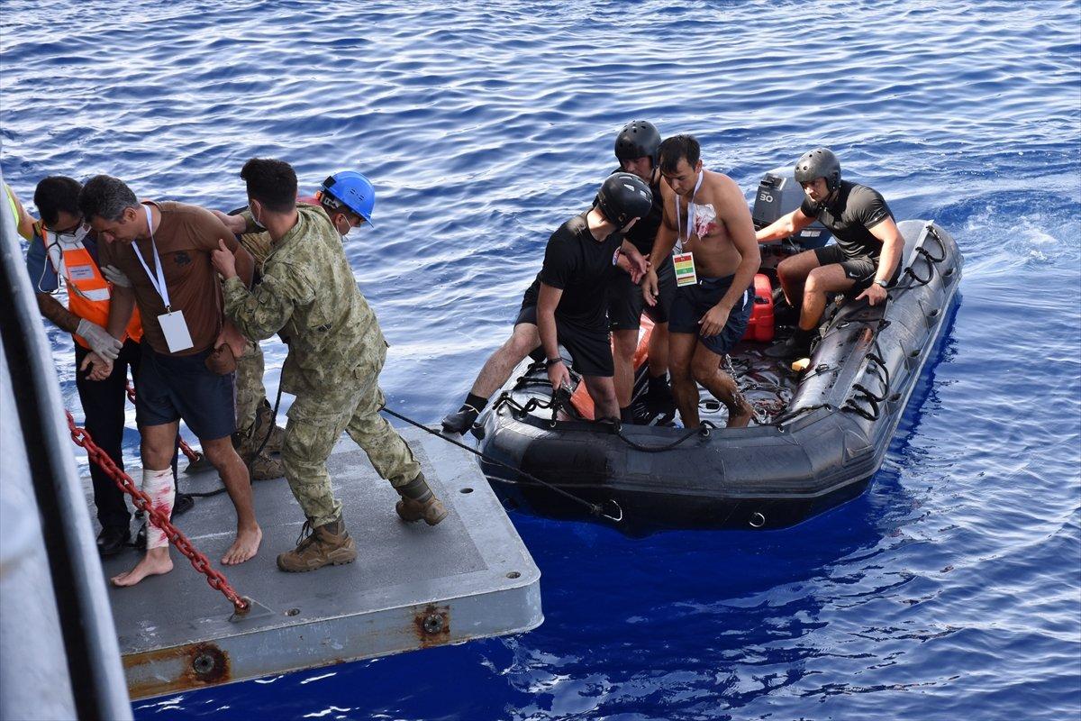 Ege de nefes kesen Kurtaran 2021 Denizaltı Arama Kurtarma Tatbikatı #12