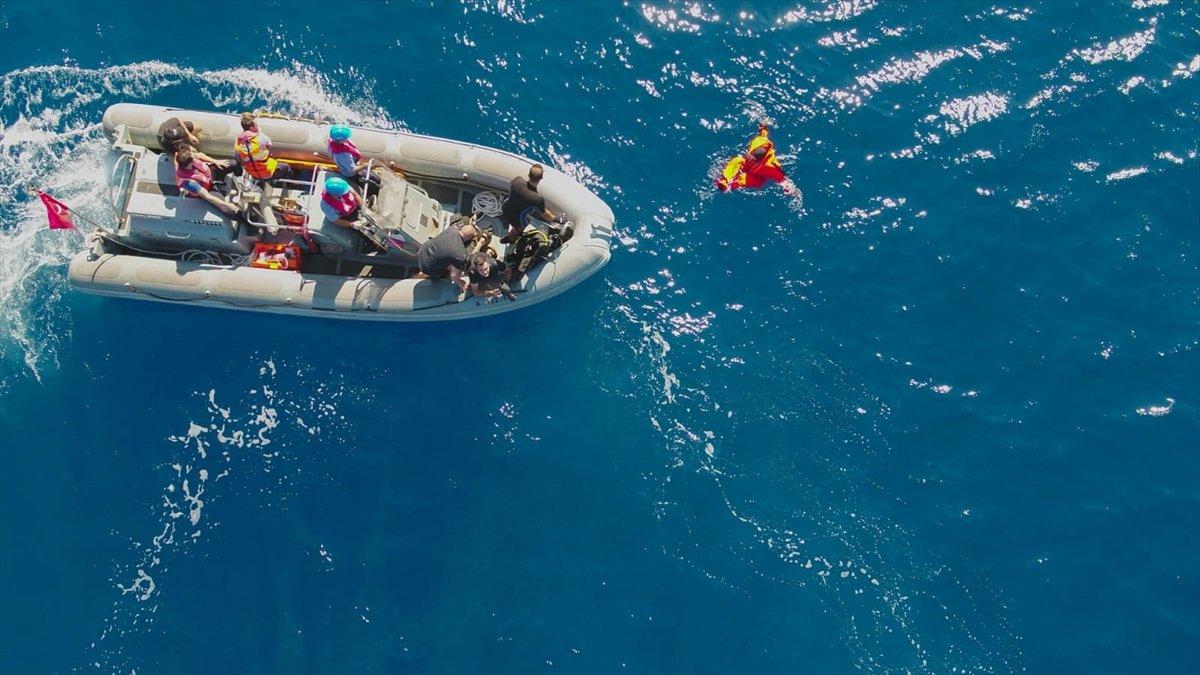 Ege de nefes kesen Kurtaran 2021 Denizaltı Arama Kurtarma Tatbikatı #6