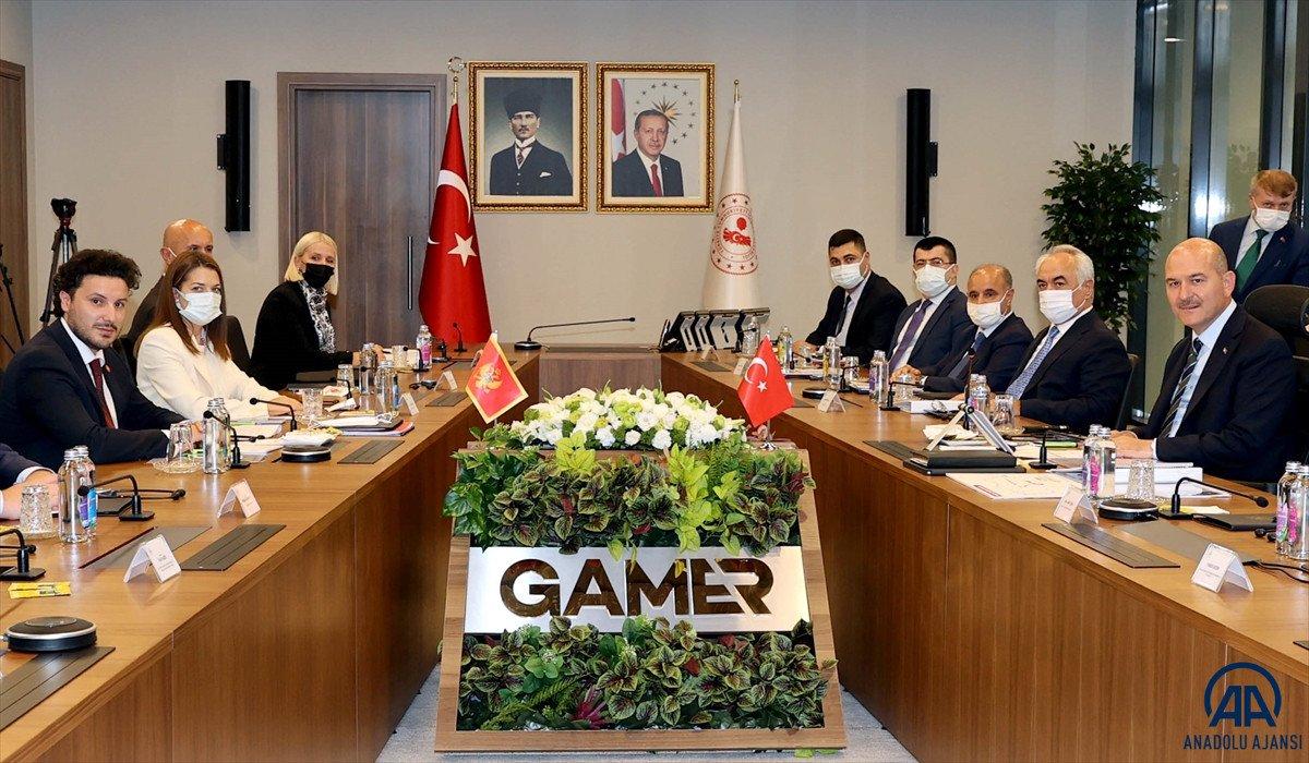 Süleyman Soylu, Karadağ Başbakan Yardımcısı Abazoviç ile görüştü  #4