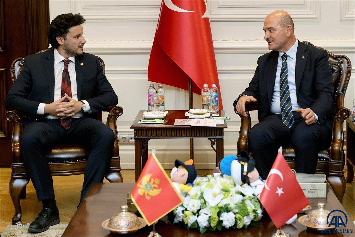 Süleyman Soylu, Karadağ Başbakan Yardımcısı Abazoviç ile görüştü  #2