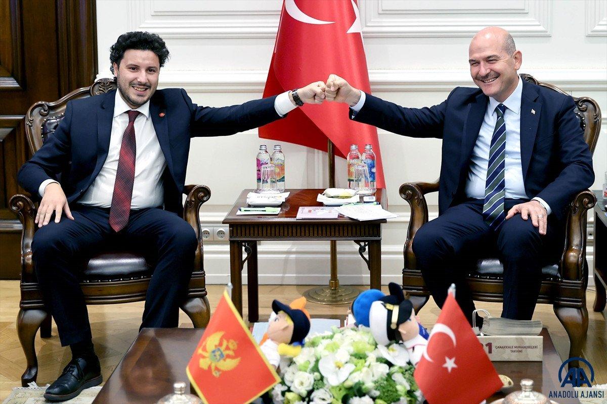 Süleyman Soylu, Karadağ Başbakan Yardımcısı Abazoviç ile görüştü  #1