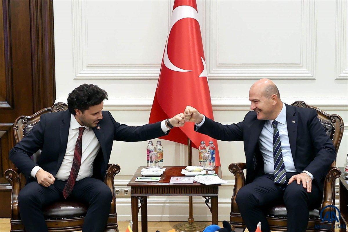Süleyman Soylu, Karadağ Başbakan Yardımcısı Abazoviç ile görüştü  #3
