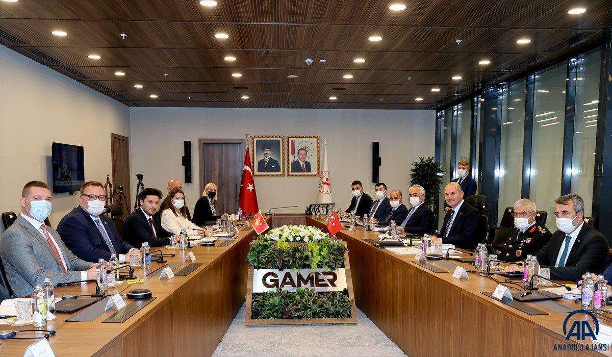 Süleyman Soylu, Karadağ Başbakan Yardımcısı Abazoviç ile görüştü  #5