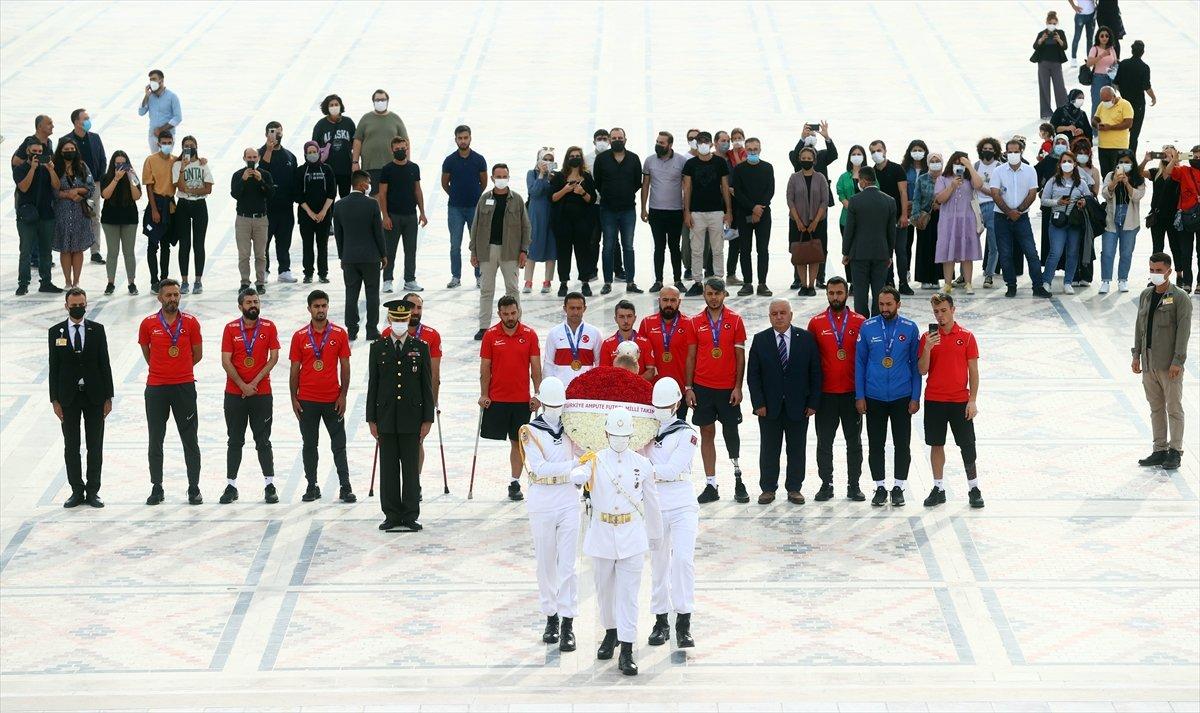 Ampute Futbol Milli Takımı, Anıtkabir i ziyaret etti #1