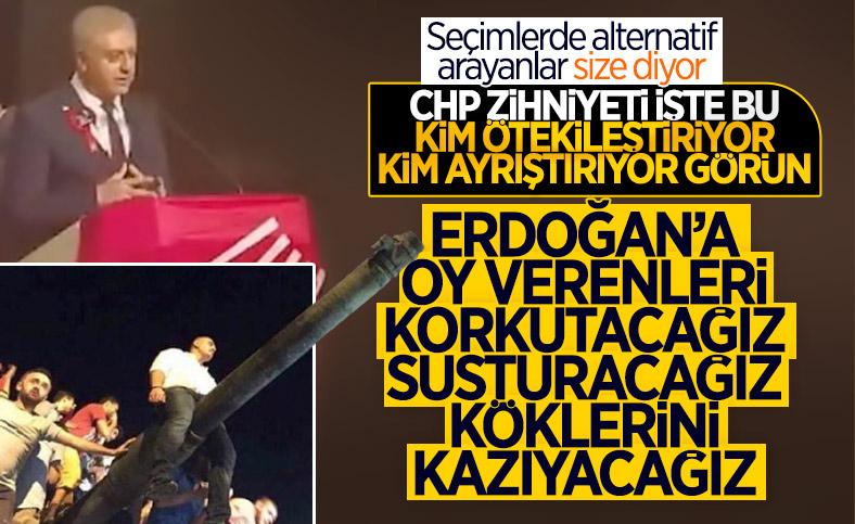 CHP'li Cemal Emir, nefret dolu söylemleriyle gündemde
