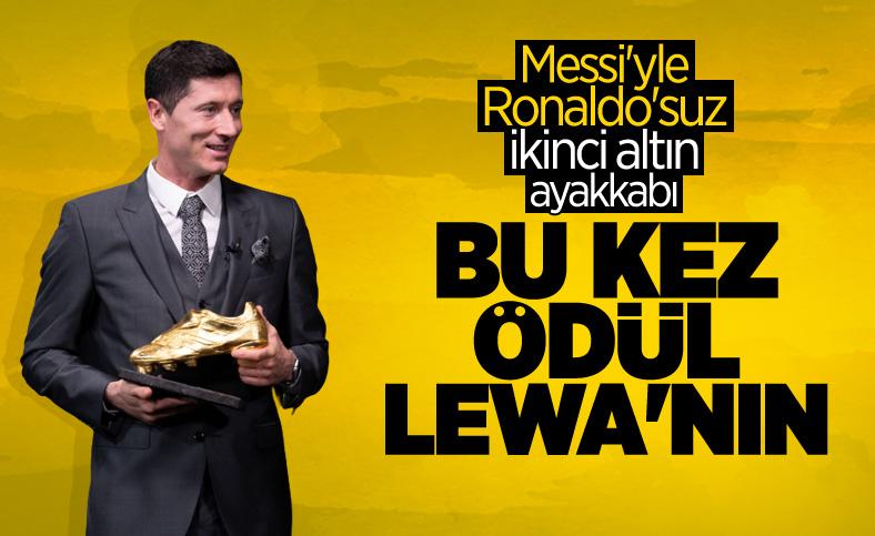 Robert Lewandowski, Avrupa Altın Ayakkabı ödülünü kazandı